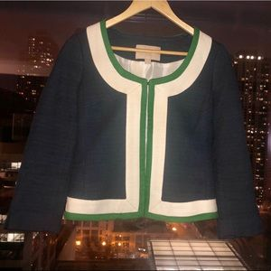 Banana Republic Blue Green and White Blazer size 2